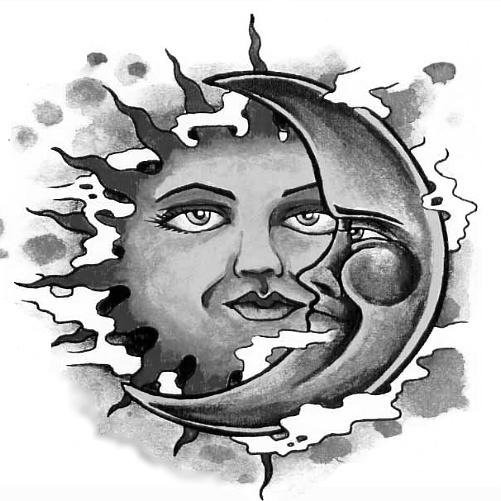 Wzór Tatuażu Słońce Monika Wypożyczalnia Sprzętu